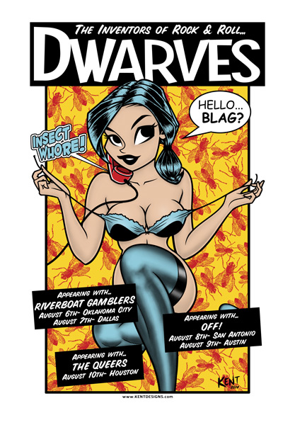 The Dwarves tour poster