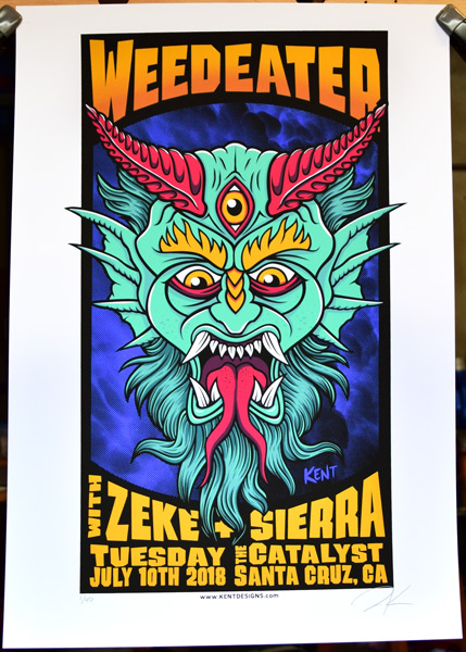 Weedeater gig poster