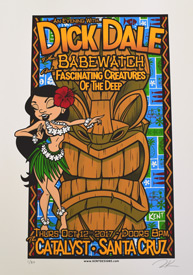 Dick Dale gig poster by Zachary Kent